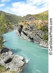 zealand, nuevo, paisaje de río