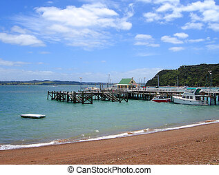 zealand, russell, 湾, 波止場, 新しい, 島