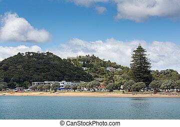 Zealand,  russell, 湾, 風景, 新しい,  paihia, 島
