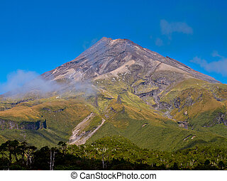 zealand, taranaki, egmont, 山, 新しい, ∥あるいは∥, 火山
