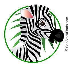 zebra, 卡通