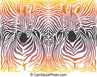 Zebra abstract pattern background