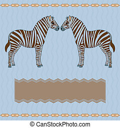 Zebra card with stripes