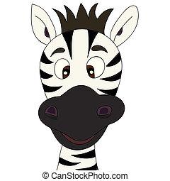 zebra, caricatura