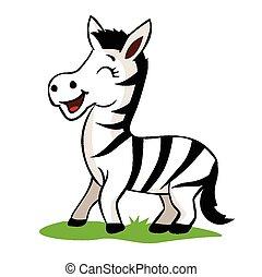 zebra, cartone animato