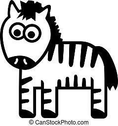 Zebra cartoon funny