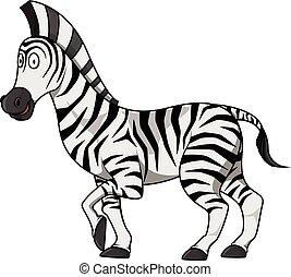 Zebra cartoon illustration