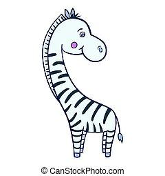 Zebra cartoon Isolated