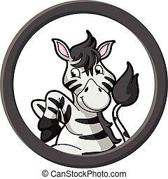 Zebra circle banner