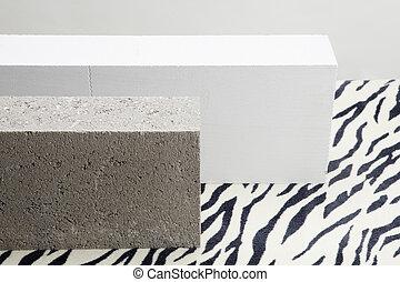 zebra concrete blocks - 2 concrete blocks on a zebra...