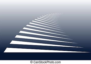 zebra, crossing., symbolisch, streifen