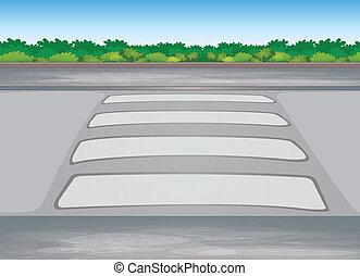 zebra crssing on a road - illustration of zebra crssing on a...