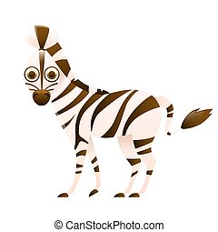 Zebra cute cartoon character