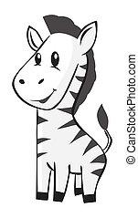 zebra, dessin animé