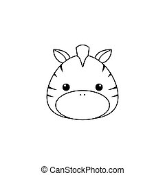 zebra Drawing Face