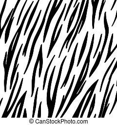 zebra, fond, peau