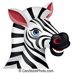 Zebra head cartoon