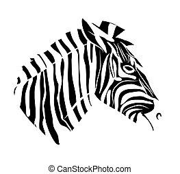 Zebra head tattoo