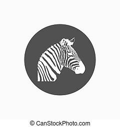 Zebra icon head