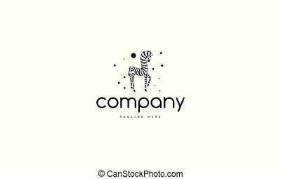 zebra., logo, abstrakt, vektor, bild