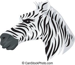 zebra, mascotte