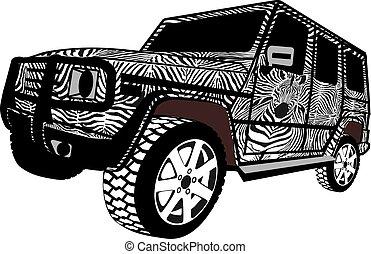Zebra Offroad car.eps
