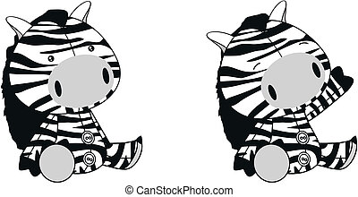 zebra plush cartoon