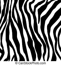 Zebra print -hand drawn black on white