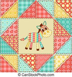 Zebra quilt pattern