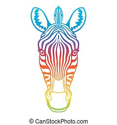 Zebra rainbow head