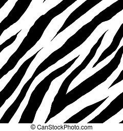 zebra, seamless, patrón