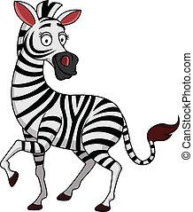 zebra, spotprent
