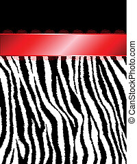 Zebra Stripes & Red Ribbon - A beautiful fancy red satin...