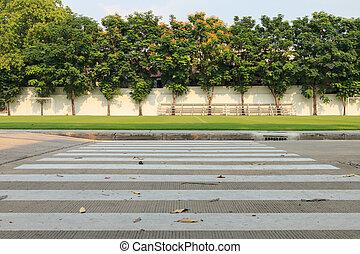 Zebra walkway crossing