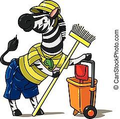 Zebra zoo keeper. Animal ABC Alphabet Z - Zebra zoo keeper. ...
