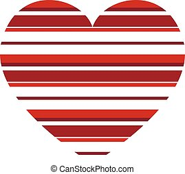 zebrato, cuore, orizzontale, vettore, modello