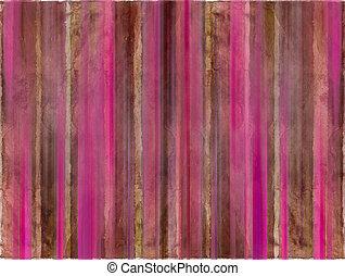 zebrato, marrone, acquarello, lavare, rosa