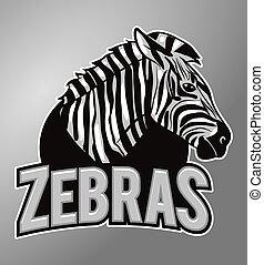 zebry, maskotka