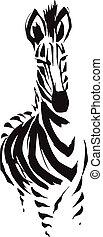 mono color zebra