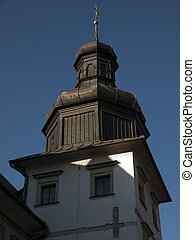 Zebrzydowice in Poland - The roof of the tower of the old ...