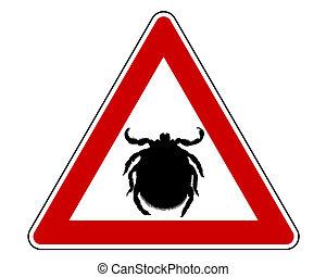 zecca, simbolo di avvertenza