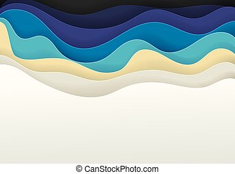 zee, abstract, zand, vector, achtergrond, strand