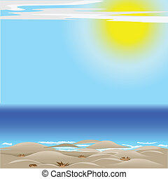 zee, zon, en, zand