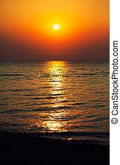 zee, zonopkomst