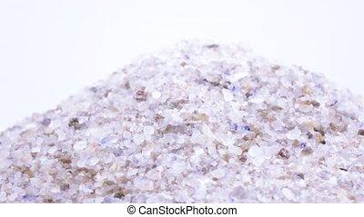 zee zout, in, massa, omwenteling