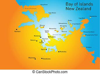 zeeland, baai eiland, nieuw