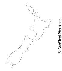zeeland, kaart, nieuw