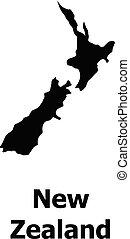 zeeland, kaart, stijl, eenvoudig, pictogram, nieuw
