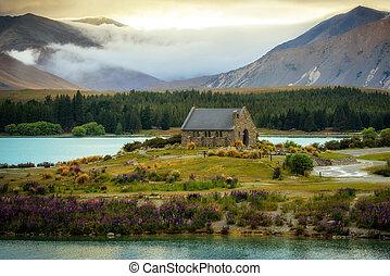 zeeland, nieuw, goede herder, kerk