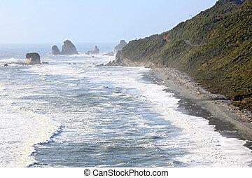 zeeland, nieuw, lijn, kust